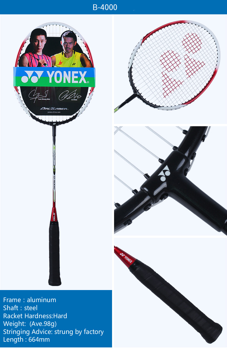 Original Yonex B 4000 700 Badminton Racket Yy Racquet With Cover Raket Arcsaber Grade Super Strung Light For Training Quality Goods In Rackets From