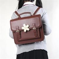 Japanese Preppy style Lolita Sakura Design Handbag JK Uniform Bookbag Vintage Shoulder Bag Backpack Fashion School Bag Briefcase