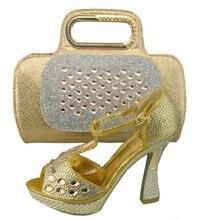 Schuhe Mit Passenden Taschen Afrikanischen Schuh Und Tasche Set Für Party In Frauen Damen Pumps Schuhe Und Handtasche Mit Steinen 1308-31