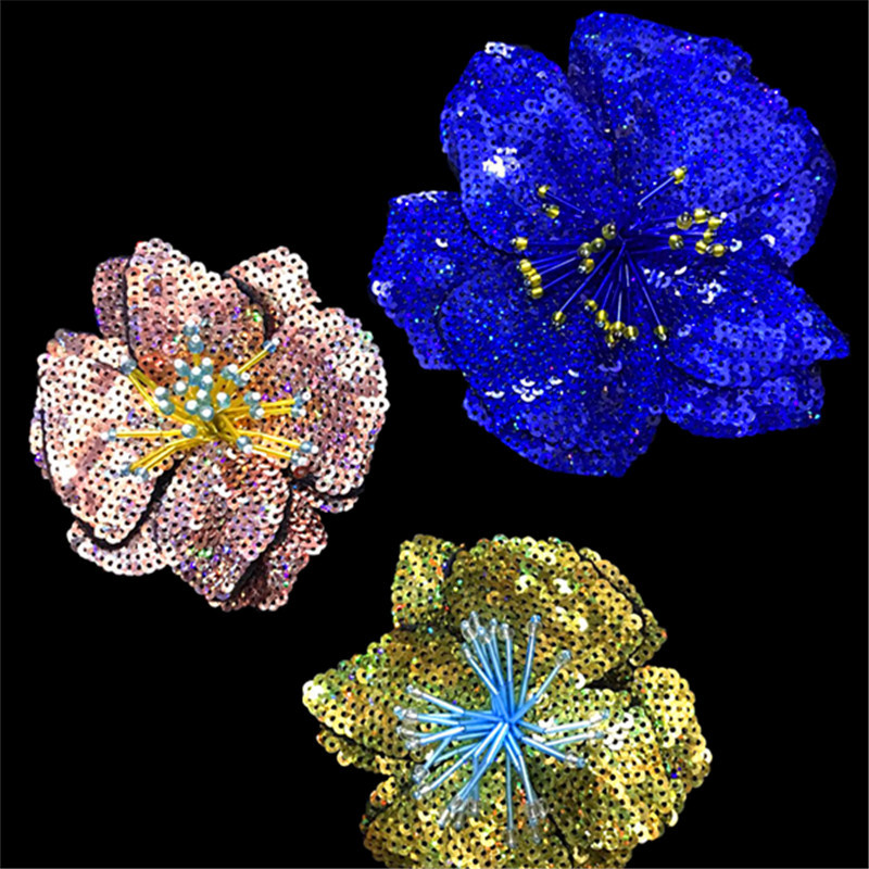 Handmade Nail Beads, Sequins, Embroidered Flowers, Clothes, Hats, Decorations, DIY Accessories, Large Patches, Holes And Decals