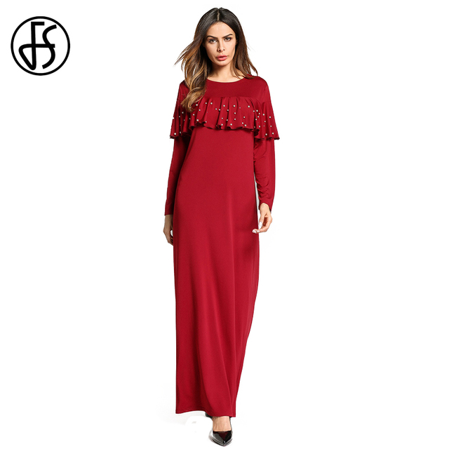 3393c2d09 Elegant-Muslim-Loose-Abaya-Islamic-Wine-Red-Kaftan-Clothing-Women-Arabic-Dubai-Turkish-Style-Maxi-Ruffle.jpg 640x640.jpg