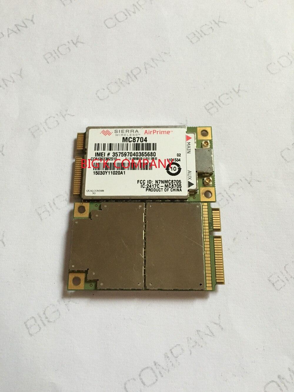 JINYUSHI For WWAN card MC8704 PCI-E HSUPA HSDPA WCDMA 3G module support GPS 100% NEW&Original   stock 1PCS Free Shipping shipping for huawei me906j 3g 4g wwan lte module quad band wcdma gps ngff internal wireless m 2 card