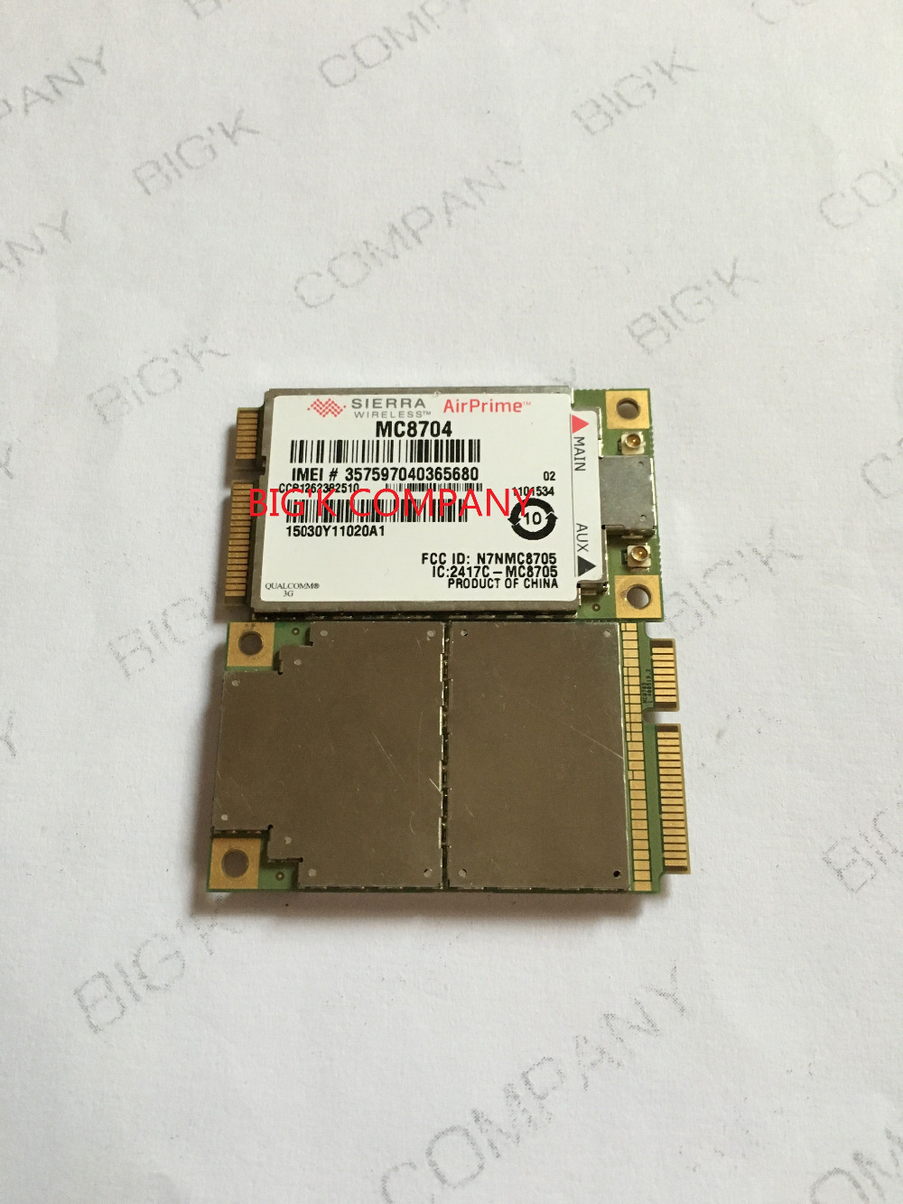 JINYUSHI For WWAN card MC8704 PCI-E HSUPA HSDPA WCDMA 3G module support GPS 100% NEW&Original   stock 1PCS Free Shipping brand new huawei me936 4g ngff m 2 fdd lte wcdma hsdpa hsupa hspa wwan wireless network card pk me906