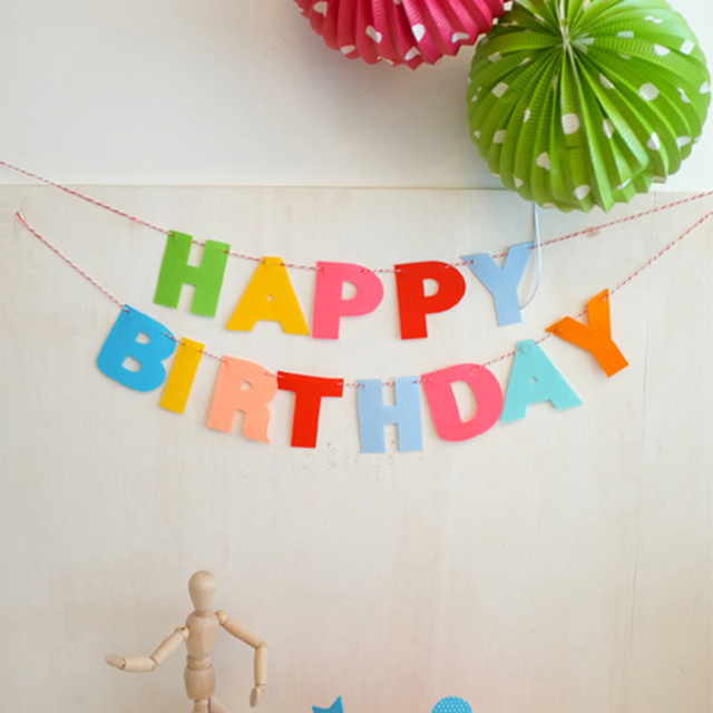 diy colorful birthdays party supplies decoration happy birthday