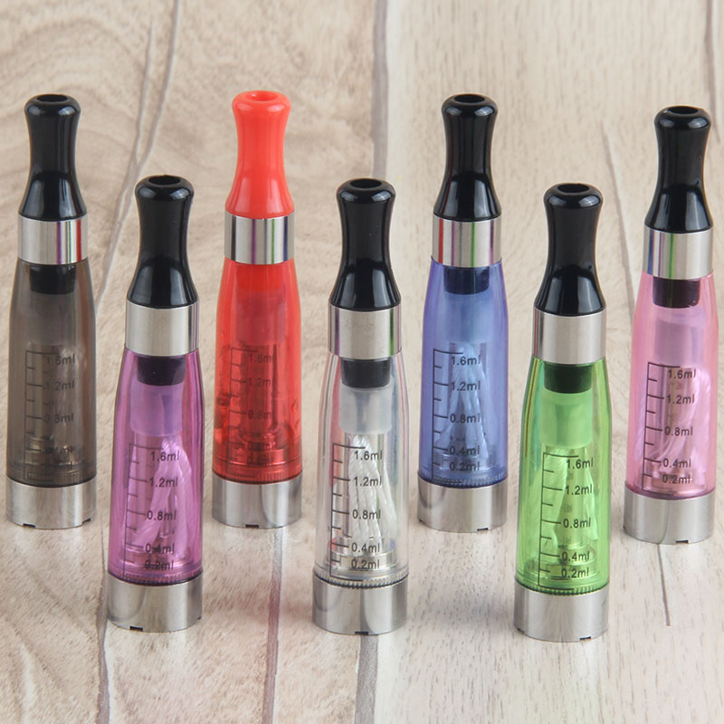 CE4 Electronic Cigarette Atomizer 1.6ml Clearomizer With 9 Colors For Ugo EVod EGo T Twist E Cigarette Battery In Stock