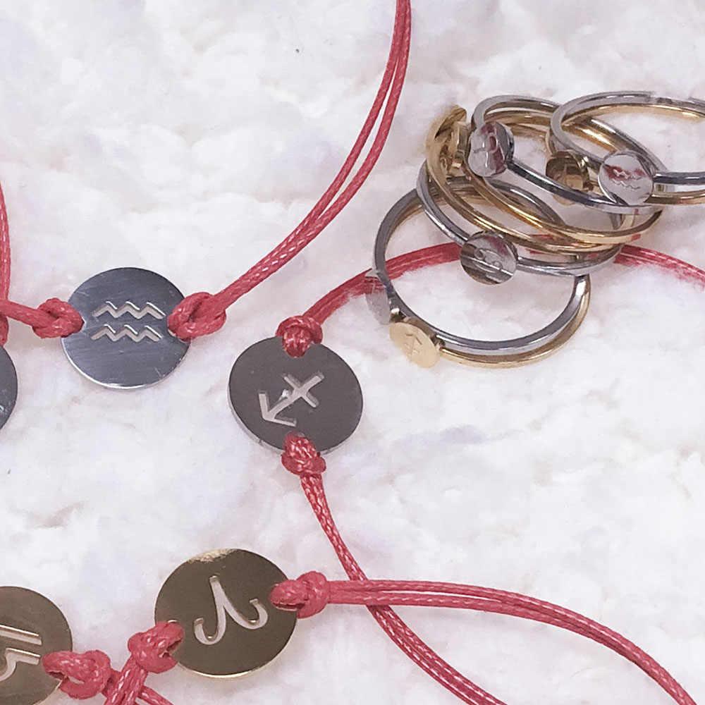 Кольцо constella из нержавеющей стали, кольца для мужчин и женщин, серебряное Золотое кольцо на палец, созвездия, пара женских украшений для девушек