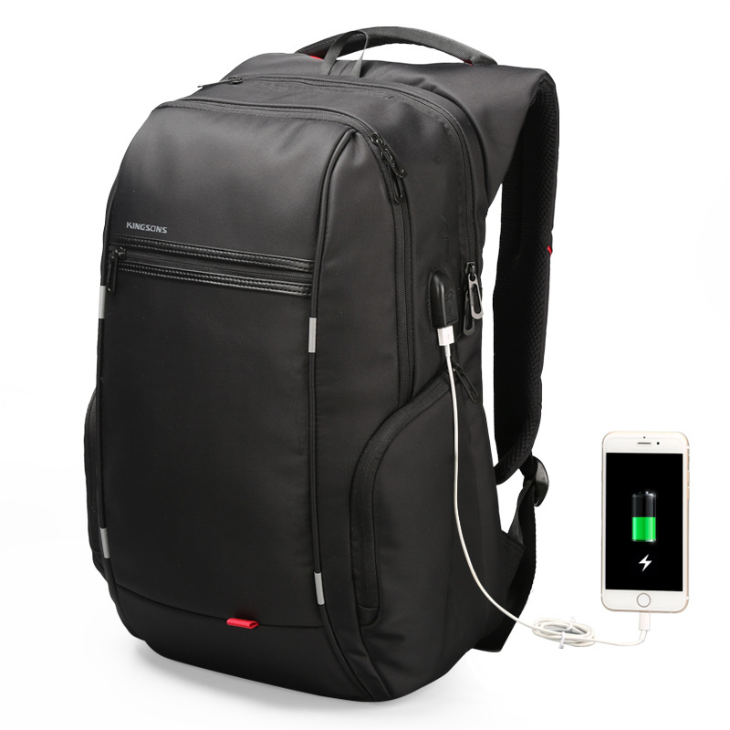 Factory direct sales business backpack double shoulder pack USB charging schoolbag laptop package one issue wholesale ic690usb901 usb to snp adapter for ge fanuc 90 series plc fast shipping