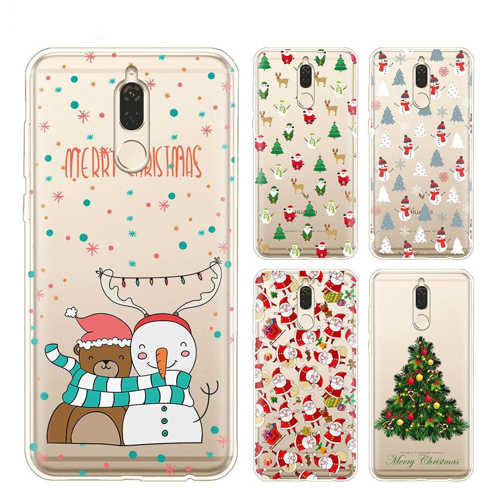 Happy New Year Merry Christmas Case For Huawei Mate 10 Lite Case Cover For Huawei Nova 2I Case For Huawei Hnor 9I Nova 2I Cover