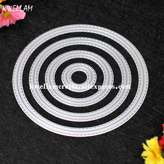 Outside In Stitched Round Circle Stackables Metal Die cutting Dies For DIY Scrapbooking Photo Album Decorative Embossing 7063052