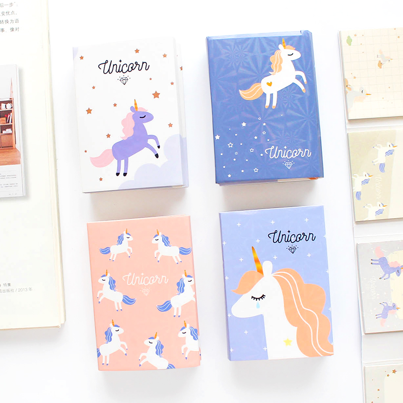 Lower Price with Cute Kawaii Cartoon Animal Finger Unicorn Memo Pad N Times Sticky Note Paper Korean Stationery Cat Planner Sticker School Office Memo Pads Office & School Supplies