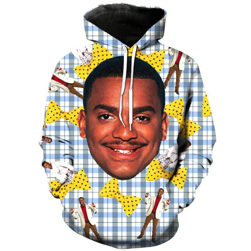 2018 Funny Carlton 3D Printed Sweatshirt For Women Men Hoodies Zipper Hoodie Tees Tank Top Sweatpants Casual Shorts in Hoodies amp Sweatshirts from Women 39 s Clothing