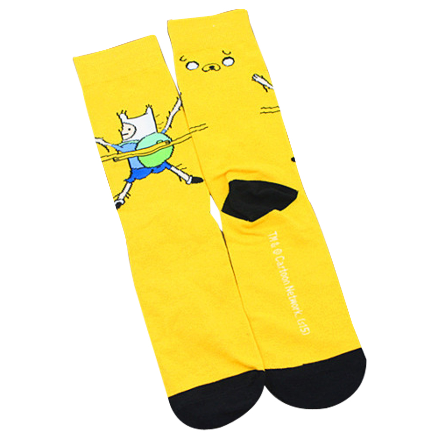 Cute Anime Cartoon Adventure Socks Yellow Street Cosplay Cotton Comics Women Men Sock Party Novelty Funny Autumn Halloween 2018 Men's Socks