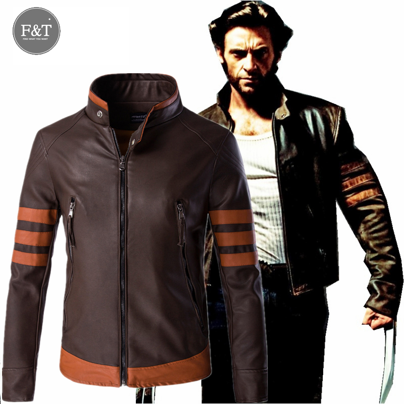 [Asian Size] Leather Jacket Men 2016 X-Men Cosplay PU Coat Men