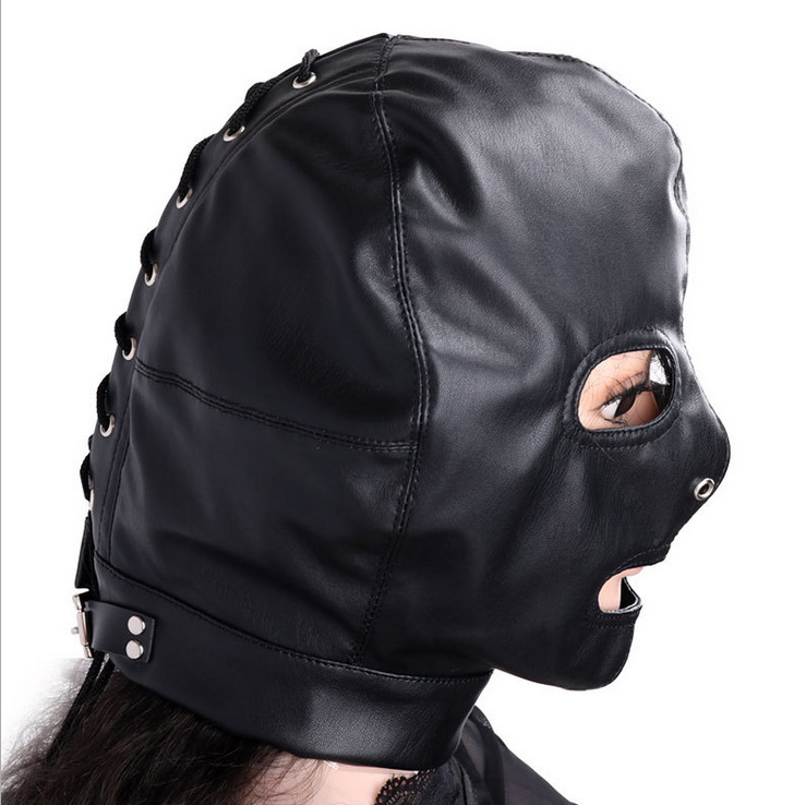Adult supplies taste bound louzui dew eye mask female sex toys Wholesale custom leather leather headgear