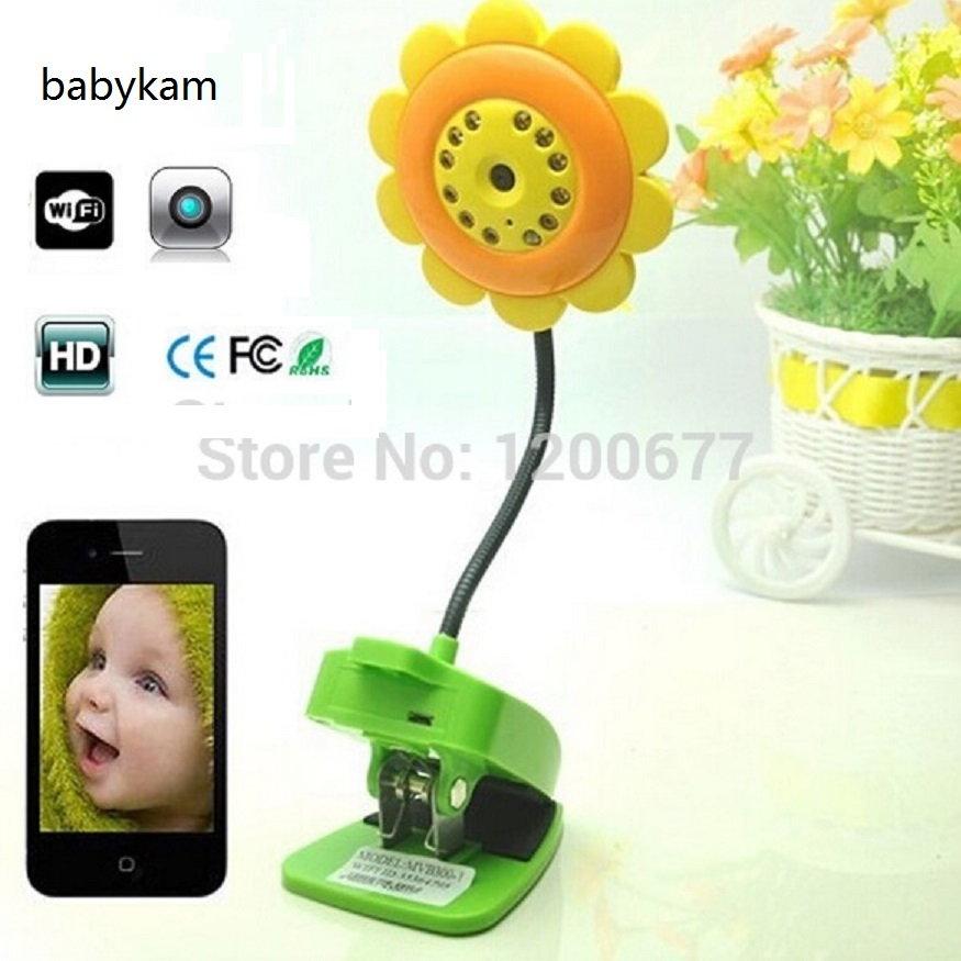 Flower wifi baby monitor IR Night vision baby camera baba electronics wifi baby monitors support IOS/Android smartphone ipad