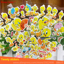 6 PCS/Lot Tweety wall Stickers nursery home decor decals Children stickers for kids Birthday Gift rewards toys