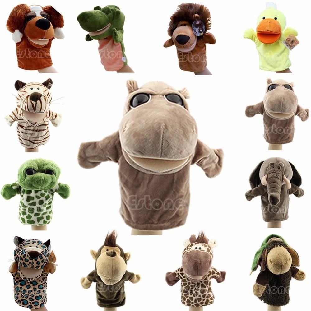 J35 Kid Peluche Velours Animaux Marionnettes Chic Dizaynlar Şagird - Yumşaq oyuncaqlar
