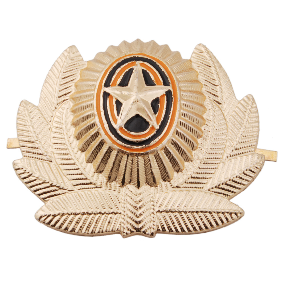 SOVIET ARMY USSR RUSSIAN MILITARY METAL CAP HAT BADGE - 36277