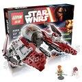 227 unids bela 05020 new star wars jedi obi-wan interceptor regalos compatible con lego monta los bloques huecos