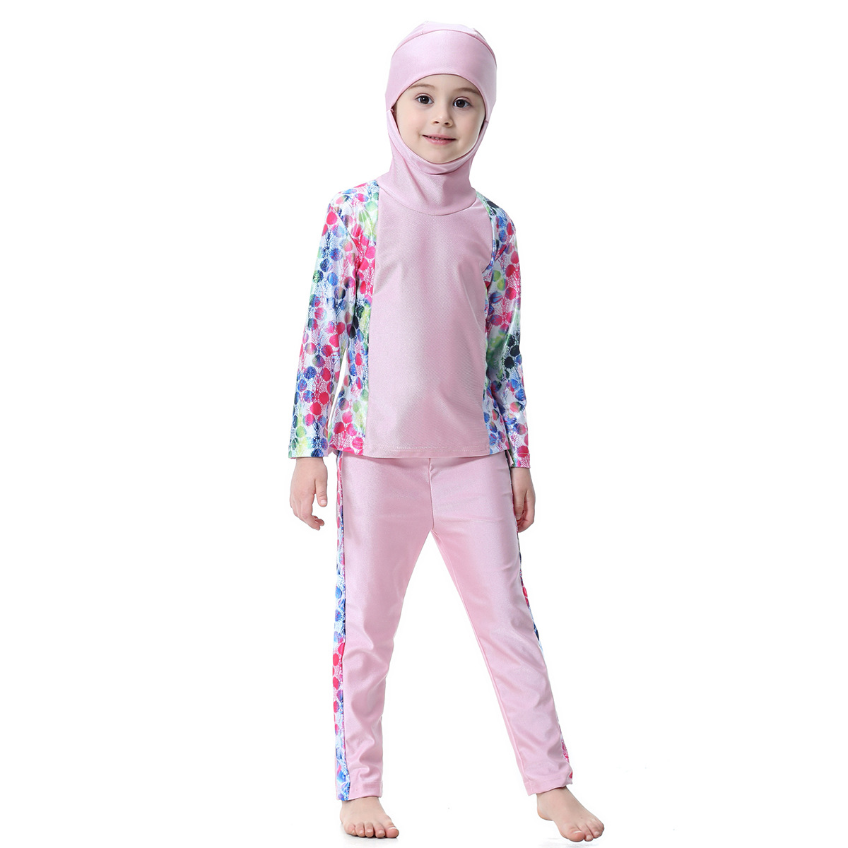 fashion Girls Full Coverage Swimwear 2 pieces bikini sets Swim Beachwear Burkinis Swimsuit Hijab Modest Bathing Suit VKYY1019