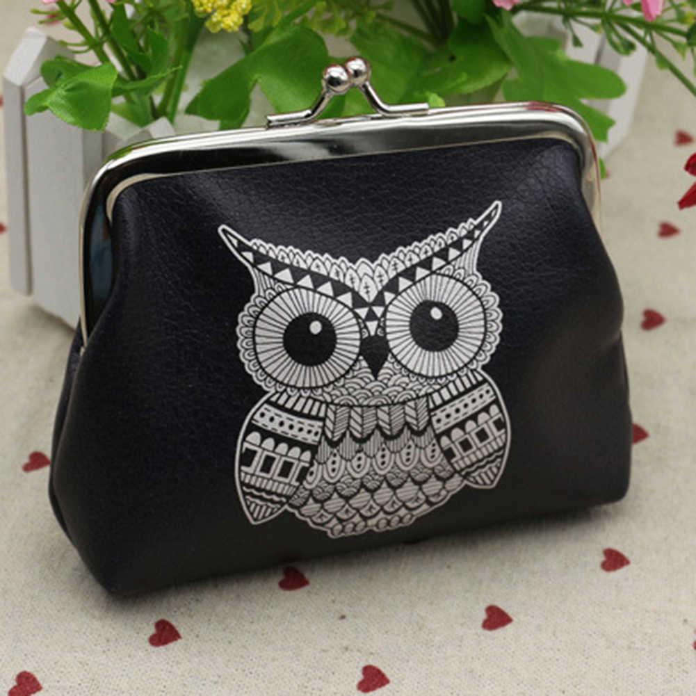 Women Mini Owl Bird Flower Wallet Card Holder Case Coin Purse Clutch Handbag Bag Small Bag