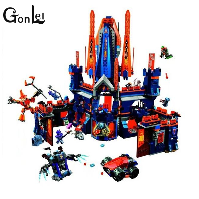 GonLeI Bela 1468pcs 10706 Nexus Knights King Knighton Castle Model Building Blocks DIY Bricks Toys Compatible with Legoingly lepin 14004 knights beast master chaos chariot building bricks blocks set kids toys compatible 70314 nexus knights 334pcs set