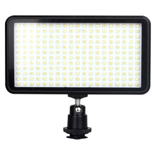 лучшая цена Led 228 Continuous On Camera Led Panel Light, Portable Dimmable Camera Camcorder Led Panel Video Lighting For Dslr Camera - Ca