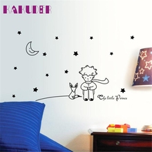Stars Moon The Little Prince Boy Wall Sticker for kids room Home Decor Wall Decals DIY