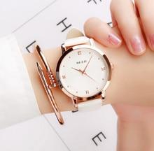 Высокое качество Новинка 2017 года бренд роскошные золотые Для женщин Часы модные креативные кварцевые женские часы женские любителей Водонепроницаемый наручные часы