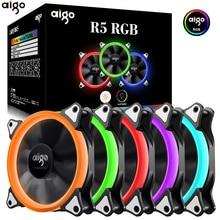 Aigo 120 мм вентилятор Корпус Вентилятор Кулер Регулируемый Аврора RGB светодиодный компьютер Вентилятор охлаждения 12 В Mute Ventilador PC чехол вентилятор для компьютера