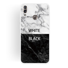 Frosted Cover For Huawei Honor 8C Case Soft TPU matting Marble pattern covering Mobile Phone Cases
