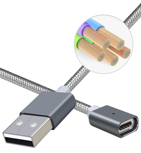 Image 3 - Strong Magnetic Charger Aluminum Alloy Cable Micro USB Cable For Android Mobile Phone iPhone Type C Fast Charge Wire Dust proof