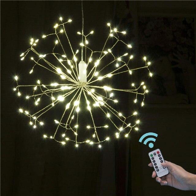 LED מחרוזת אורות 120LED 198LED עמיד למים זר פיות זיקוקי שן הארי אור DIY קישוט חג המולד מסיבת חתונה