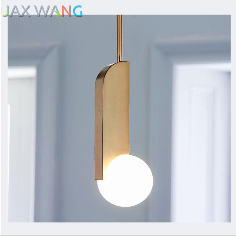 Lights & Lighting Sweet-Tempered Nordic Modern Led Milk White Glass Pendant Lights Living Room Dining Room Bedroom Creative Gold Decorated Metal Hang Lamp Attractive Designs;