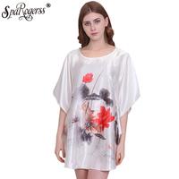 SpaRogerss   Nightgowns     Sleepshirts   2018 Plus Size Silk Lady Sleepwear Dressing Gown Female Home Brand Bathrobe Intimissimi YT7348