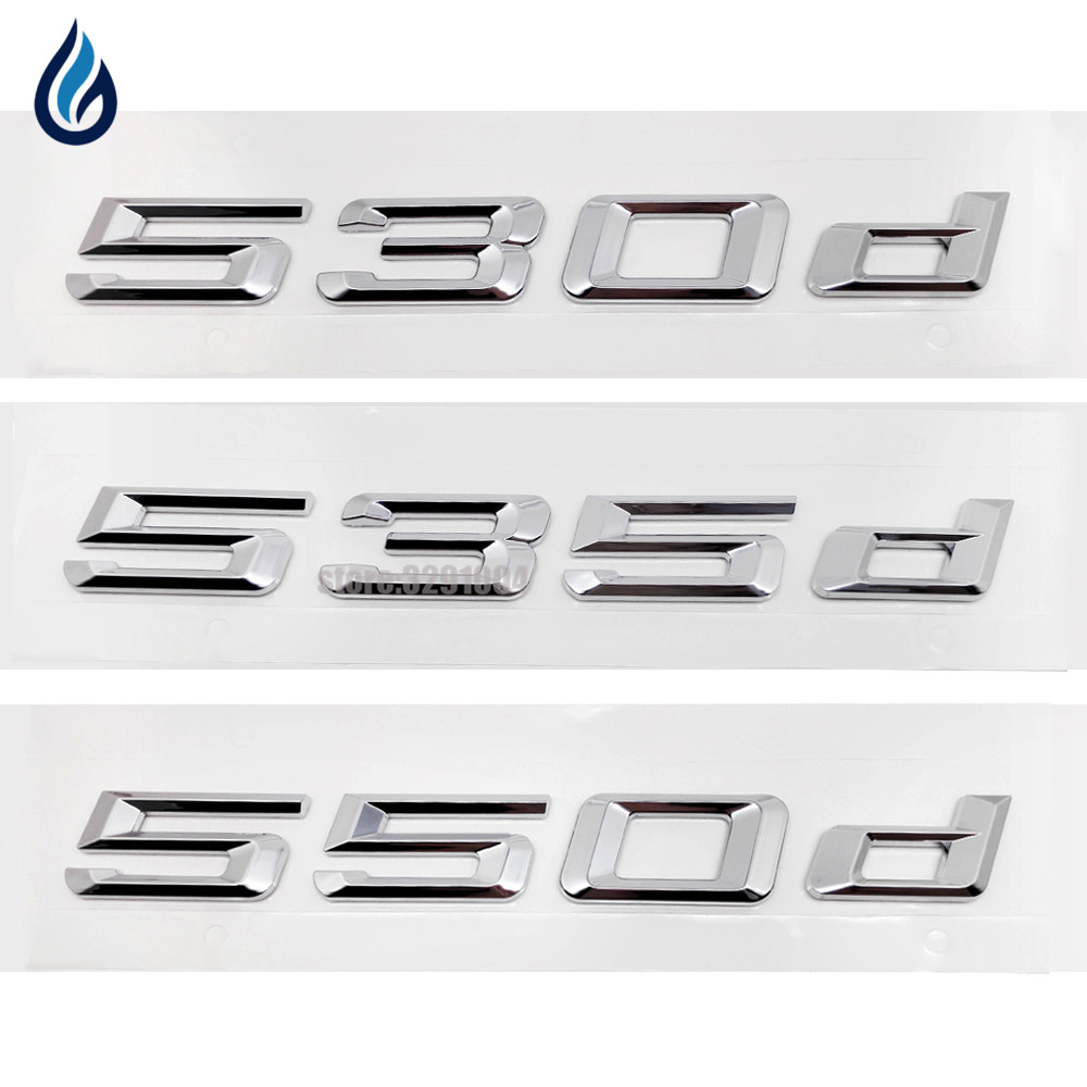 Car Emblem Rear Number Letter Sticker 530d 535d 550d For BMW 5 Series E12 E28 E34 E39 E60 E61 F10 F11 F07 right side replacement car back rear reflector warn light for bmw 5 series 520 528 530 535 550 f10 f18 2010 2013 3102 r