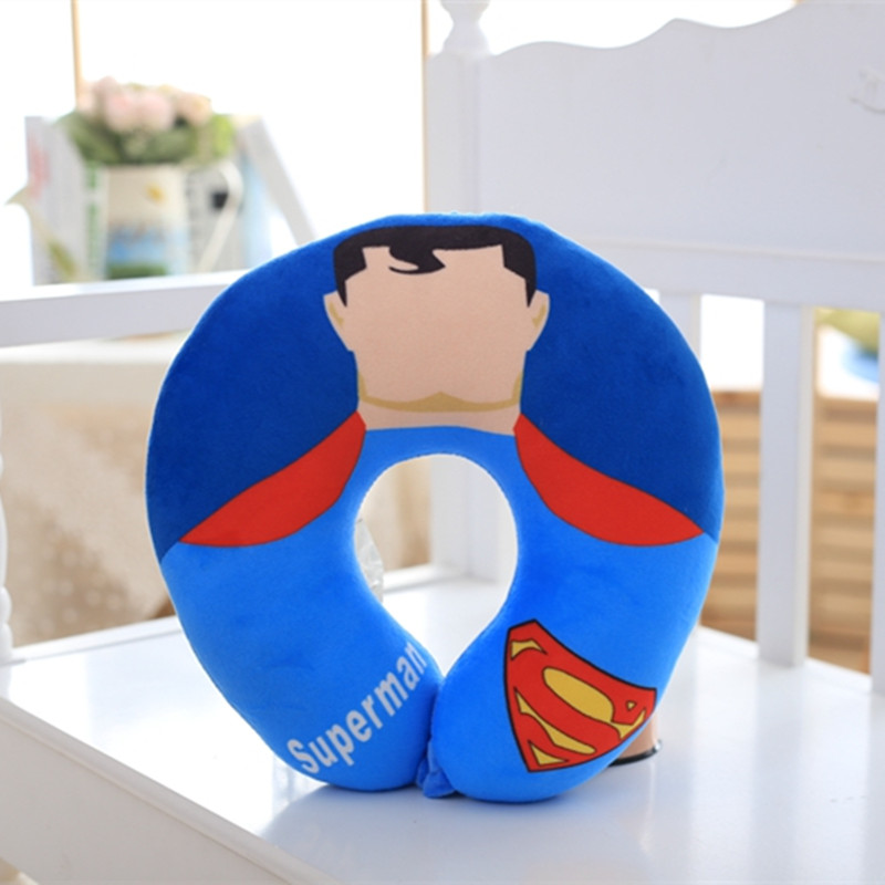 The Avengers U Shape Plush Neck Pillow Staffed Anime Superman Spiderman Batman Plush Kids Toy Office Car Travel Nap Pillow