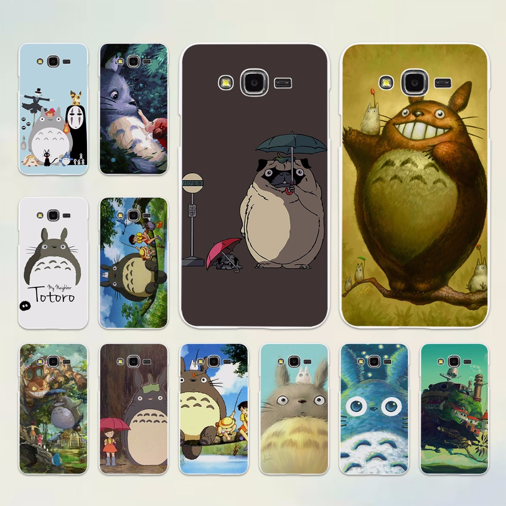 anime My Neighbor Totoro and friends design hard White Case cover for Samsung Galaxy J5 2017 J7 2016 J3 J2 J1 C7 C9Pro E5 E7