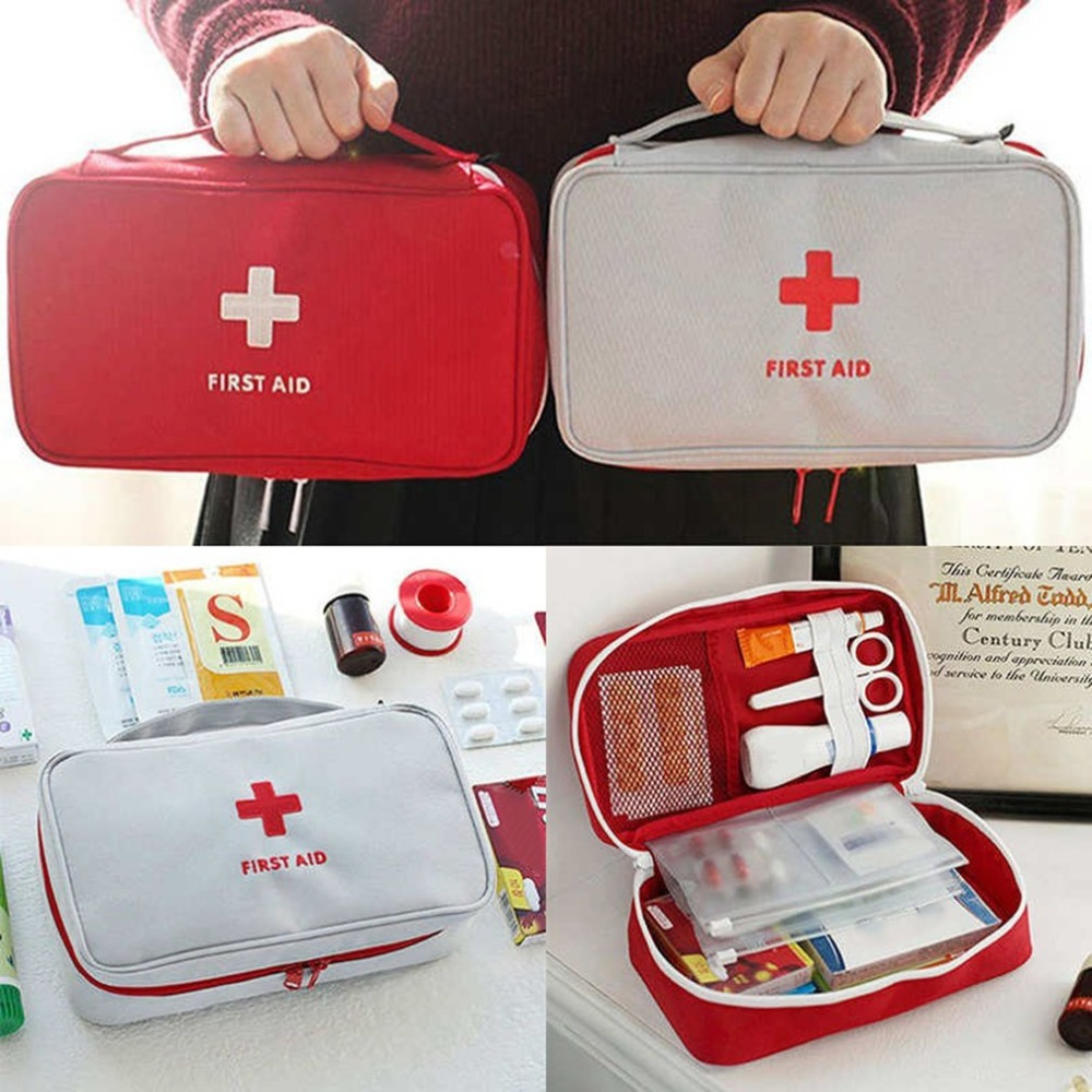 Portable Mini First Aid Bag Emergency Home Outdoor Treatment Survival Medical Rescue Pouch Large Drug Storage Carrying Bag недорго, оригинальная цена