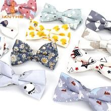 Ajustable de los hombres Formal 100% algodón impresión Animal Vintage mariposa pajarita esmoquin con corbatín arcos novio fiesta accesorios regalo