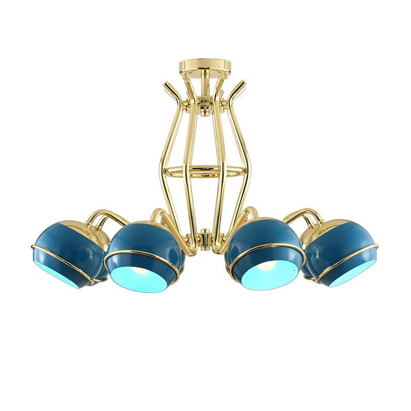 Magasin de vêtements dames boutique 8 têtes lampes suspendues salon de beauté bleu modèle chambre café magasin pendentif lumière ZA8120 - 3