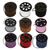 60 Color Hot Sale Wax Beading Cord Faux Flat Suede Velvet Lace Rope Jewelry Findings For