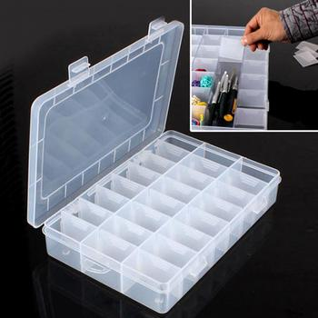 Life Essential 24 Compartment Storage Box Practical Adjustable Plastic Case for Bead Rings Jewelry Display Organizer 5