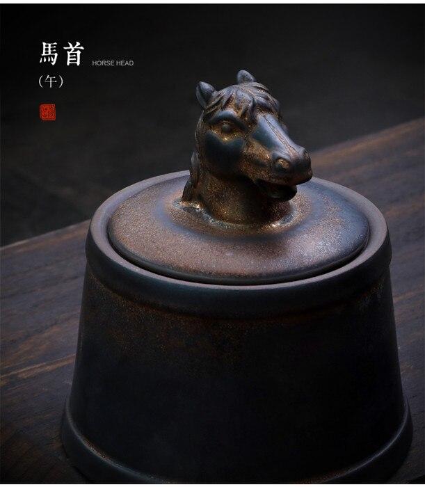 Прах питомца кремации держатель урны собака в память о кошке шкатулка животное на память о похоронах Hond 500 г большой емкости свинья лошадь OXCaskets - Цвет: Horse Head