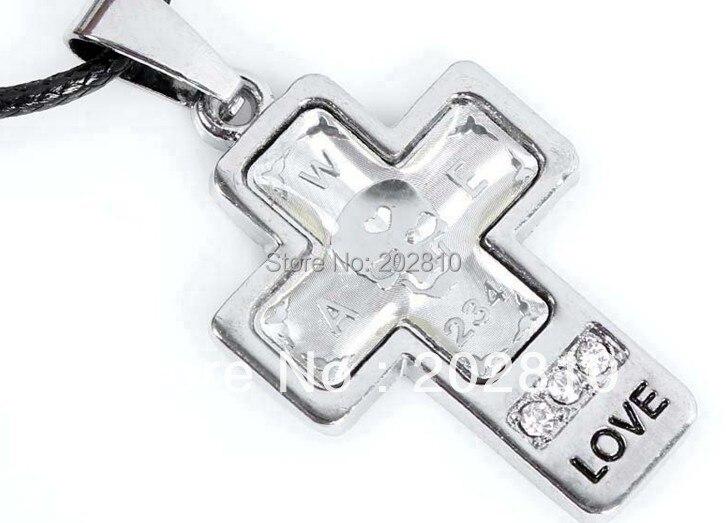 Купить модный крест кулон для мужчин и женщин кожаное ожерелье влюбленных