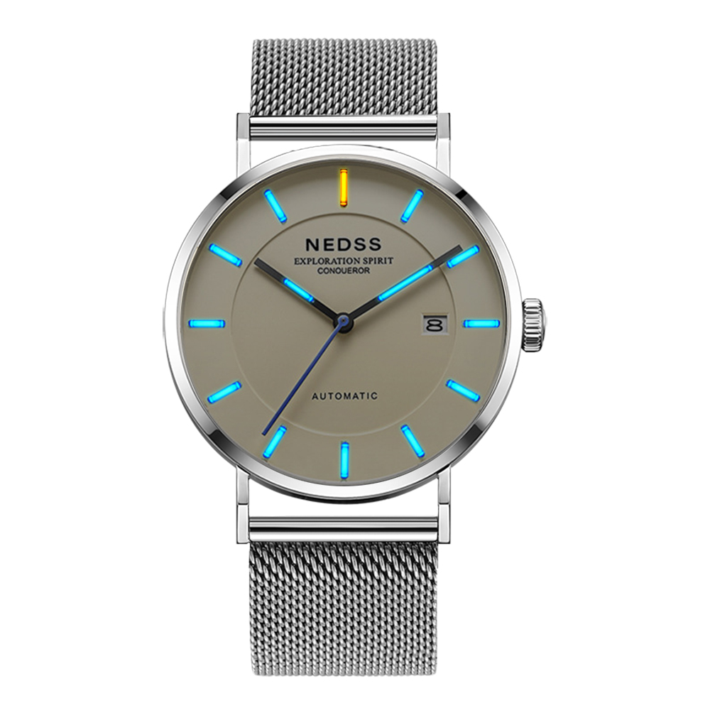 2018 NEDSS Mens Automatic Mechanical Watches Top Brand Luxury watches Men Steel Army Military Watches Male Business Wristwatch didun mens automatic mechanical watches top brand luxury watches men steel army military watches male business wristwatch clock