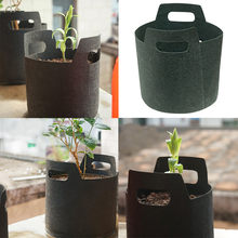 3 Size Round Black Non-woven Fabrics Pots Plant Pouch Root Container Grow Bag Aeration Container Nursery Pots 1030(China)