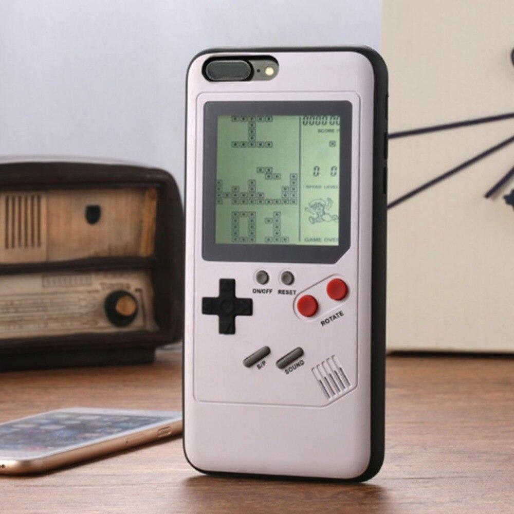 9999 in 1 Giochi di Gioco Del Telefono Mobile Custodie per Nintendo Tetris Gioco Della Copertura Posteriore Custodia Protettiva Adatto per iPhone 6 7 8 s X Plus.