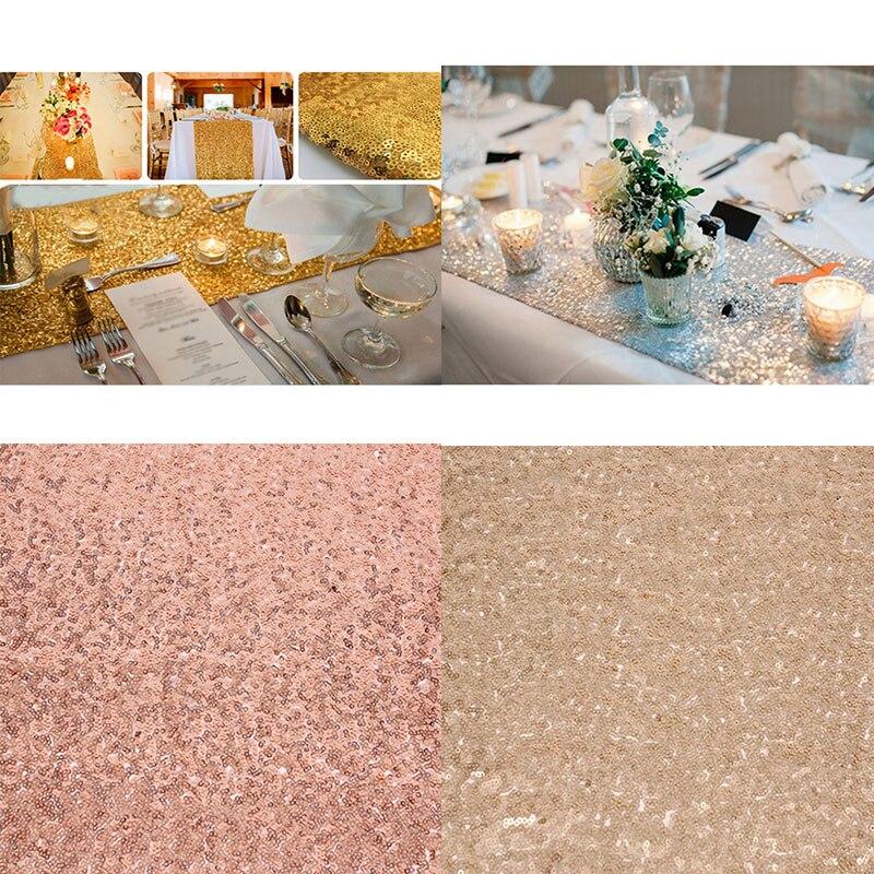Романтическая 30x180 см блестящее розовое золото, с пайетками настольная дорожка для свадебной вечеринки Рождественская скатерть для стола украшения