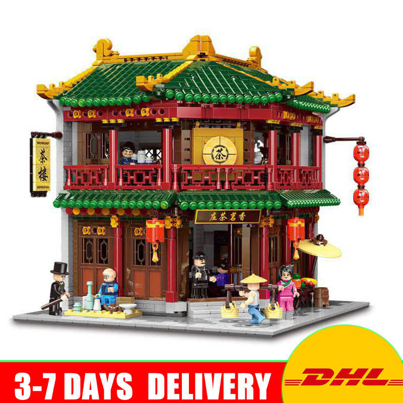 XINGBAO New 01021 3033Pcs The Toon Tea House Chinese Model Building Set Blocks Bricks Kids Christmas Gifts Toys for Children